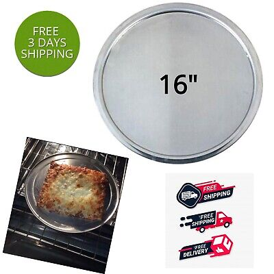 16 Inch Heavy Duty Round Pizza Pan Oven Non Stick Skillet Serving Tray Aluminum