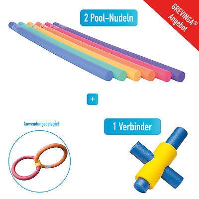 Grevinga® Poolnudel / Schwimmnudel und Verbinder SET - 4 Loch 126442