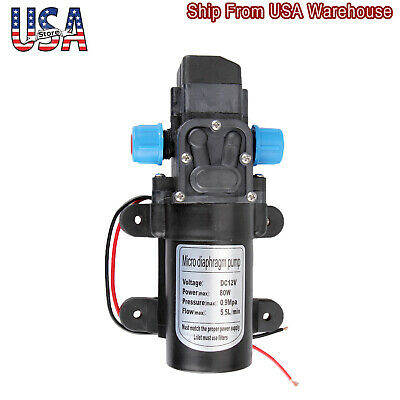 12v 80w 5.5lmin Micro Diaphragm Pump High Pressure Self Priming Water Pump