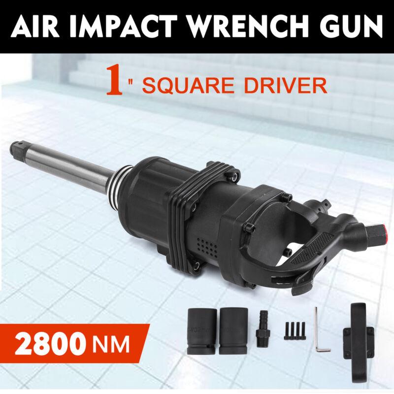 """1"""" Square Drive Air Impact Wrench Gun 2800 Nm Long Shank Hammer 4000RPM 8inch"""