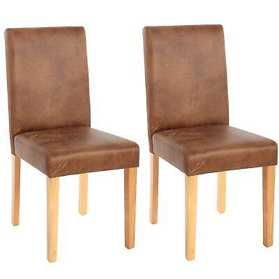 2x Esszimmerstuhl Stuhl Lehnstuhl Littau Textil, Wildlederimitat, helle Beine - Polyester Wildleder Stuhl