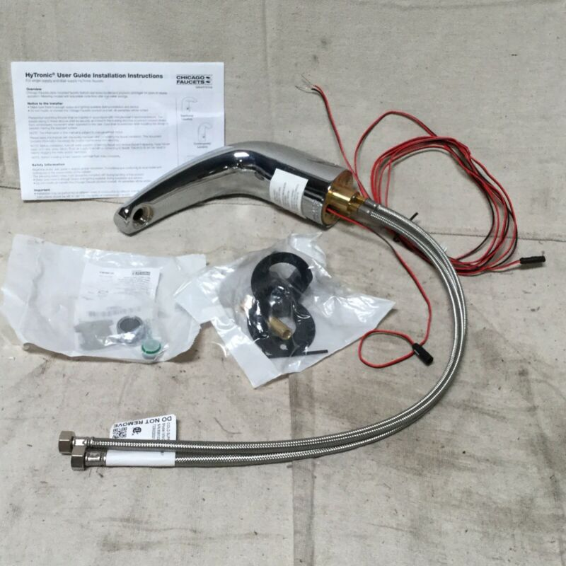 CHICAGO FAUCETS 116.111.AB.1 Chrome Mid Arc Bathroom Sink Faucet Motion Sensor