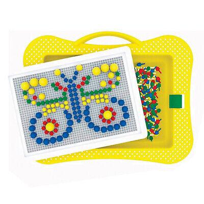 Mosaik-Spiel für Kinder 300tlg Steckspiel Steckmosaik Steckpins Steckkugeln  ()