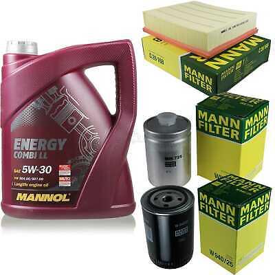 Inspection Set 5L Mannol Energy Combill 5W30 Motor Oil + Mann Filter 10768019