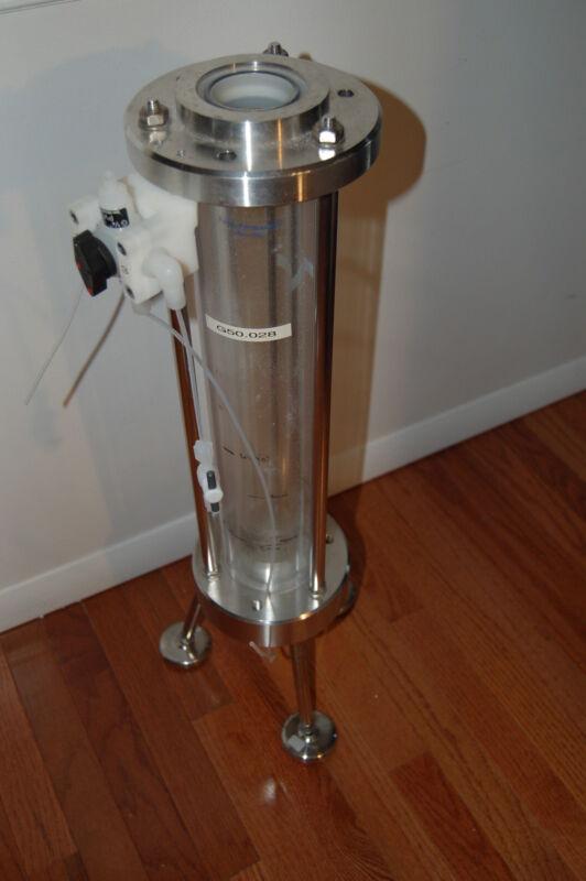 E. Merck  Superformance 500-50 preparative pilot Glass chromatography column LC