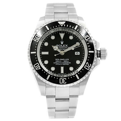 Rolex Sea-Dweller Deepsea Black on Black Ceramic Steel 3900m Mint Watch 116660