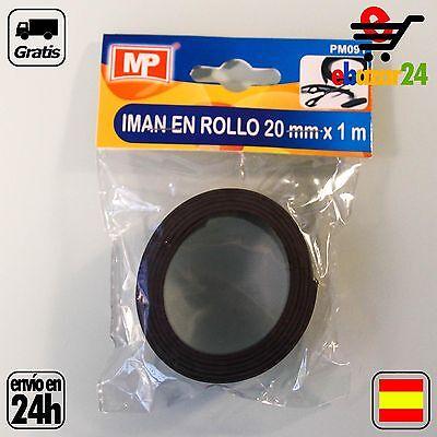 ROLLO DE IMAN 1 METRO X 2CM X 1.5 MM MANUALIDADES magnetico...