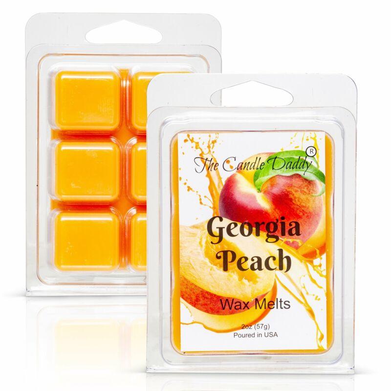 Georgia Peach - Southern Peach Fruit Scented Melt- Maximum Scent Wax Cubes/Melts