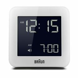 Braun BNC009WH Digital Quartz Alarm Clock