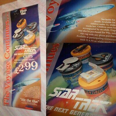 RARE 1994 STAR TREK THE NEXT GENERATION store display 5 feet poster PIZZA HUT (The Hut Store)