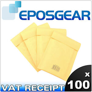 100 Small Gold Padded Bubble Mailing Post Envelopes A 000 A000 Jiffy Bag Style