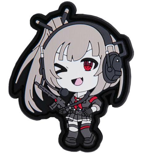 Tactical Anime Girl Waifu Kawaii PVC Patch Hook and Loop
