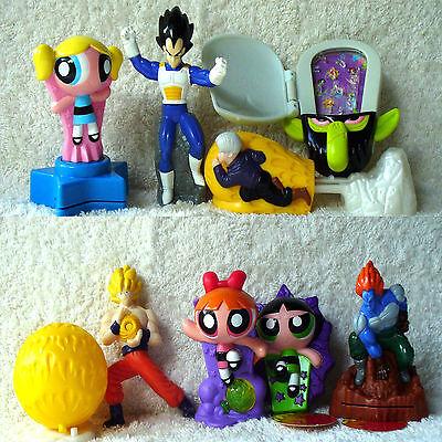 Burger King DragonBall Dragon Ball Z 8 Toy set 2003 PowerPuff   Power Puff Girls