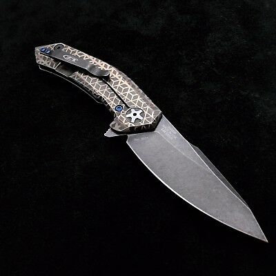 ZT0095BW Zero Tolerance Knife  0095BW  S35VN Blackwash Blade Rhombus Scales BWL