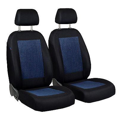 Schwarz-Blaue Terciopelo Fundas de Asientos para Lancia Y10 Cubierta Coche