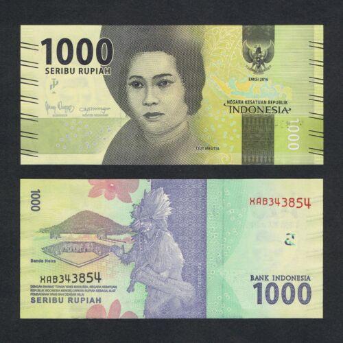 2016/2018 INDONESIA 1,000 1000 RUPIAH P-154* UNC> > > >TJUT MEUTIA X REPLACEMENT