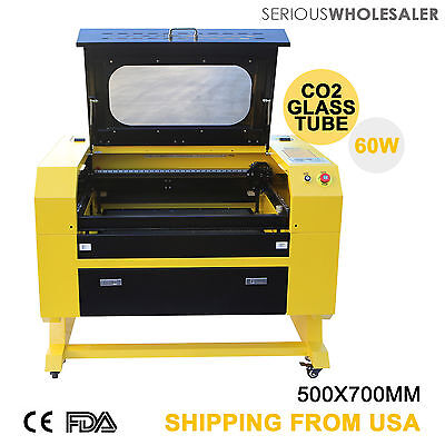 Engraver Cutter W Usb Interface Laser Engraving Machine 60w 110v Co2 New