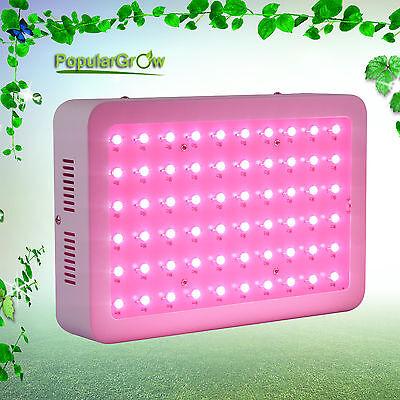 Populargrow Updated 300w Led Grow Light Full Spectrum Commercail Veg Plant Lamp