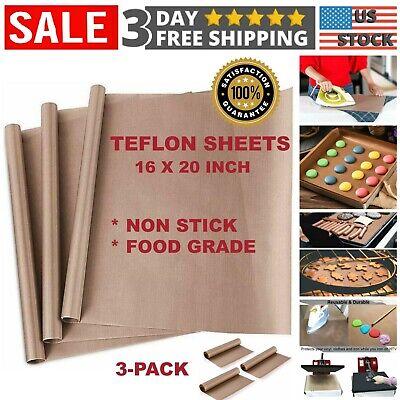 3 Pcs Teflon Transfer Sheets For Heat Press Ptfe Non Stick Reusable Craft Paper