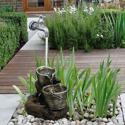 Interior Poliresina Agua Grifo Fuente Característica Luces LED Estatua de Jardín