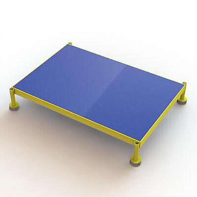 Steel Work Platform Wadjustable Height Yellow 36inlx24inwx5in-8inh 800lb Cap