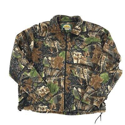 Men's Clothing Cabela's Outfitter Camo Fleece Zip-Up Hunting Jacket ~ Sz XL