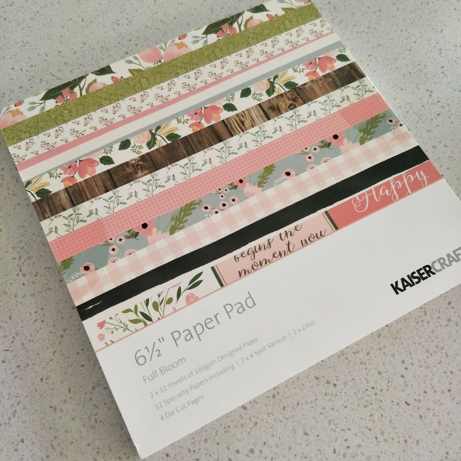 2016 - 2019 Discounted KAISERCRAFT paper pads 6.5 * 6.5 inch 20 options - Full Bloom
