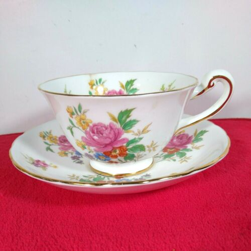 Royal Chelsea English Bone China Numbered 4185A Cup & Saucer