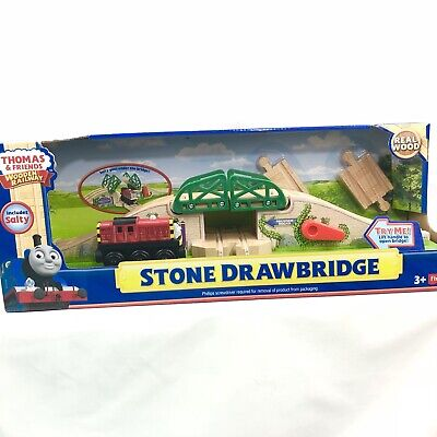 Thomas & Friends Wooden Railway Stone Drawbridge With Salty Retired Nib 2013