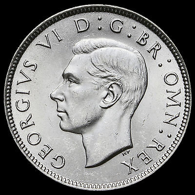 1942 George VI Silver Two Shilling Coin / Florin – BU