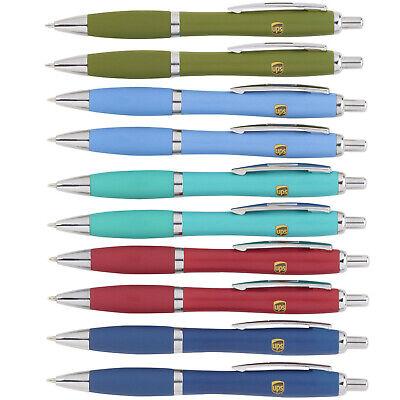 10 Pack Lot United Parcel Service Ups Matte Medium Ballpoint Black Ink Pens