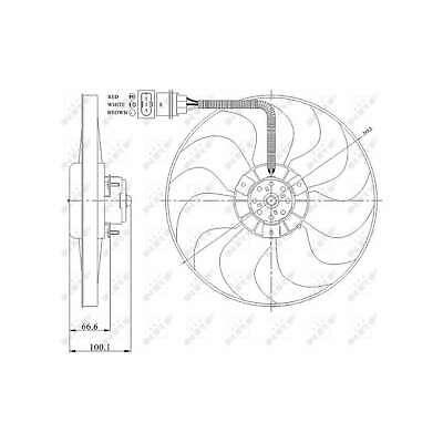 Genuine NRF Engine Cooling Radiator Fan - 47204