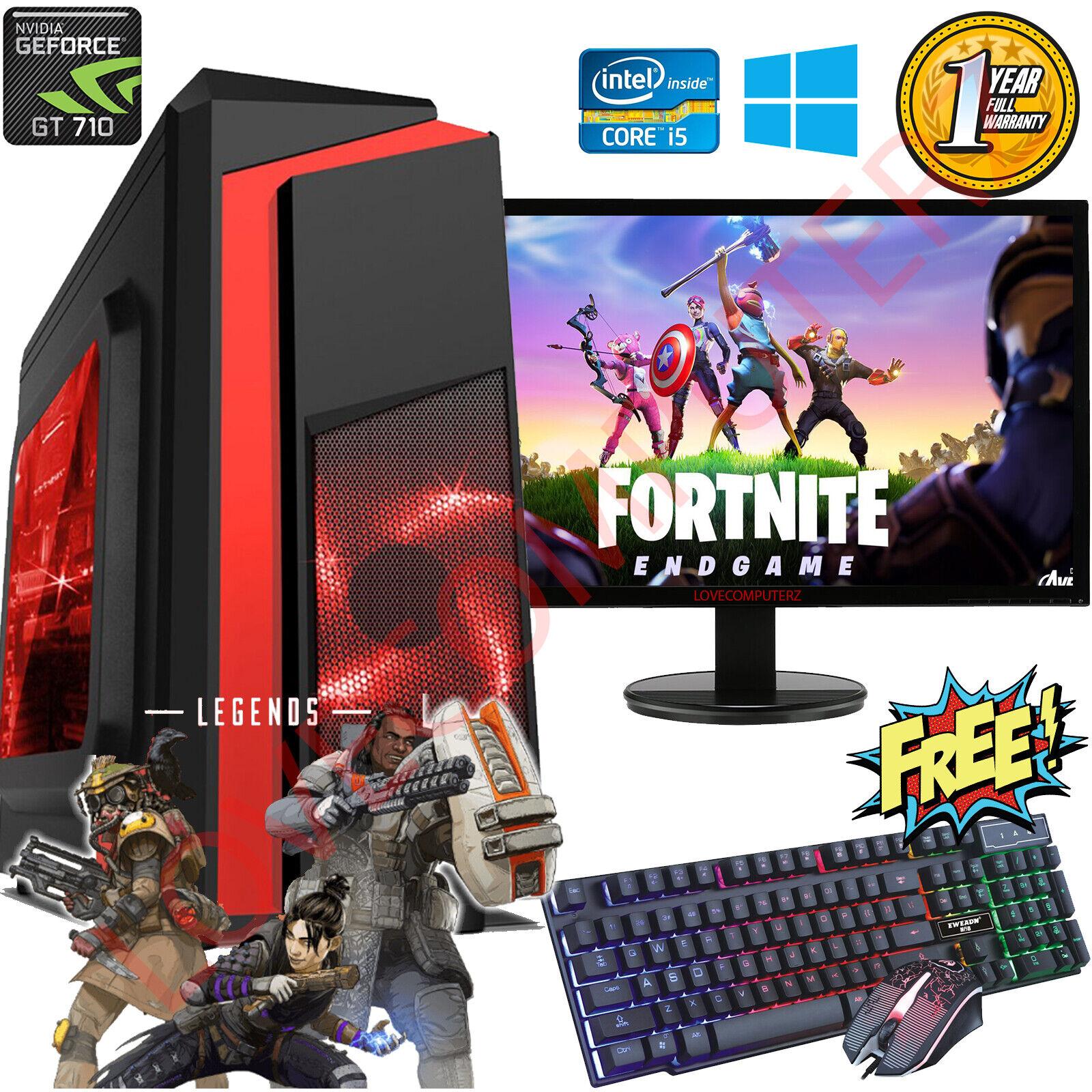 Computer Games - Gaming PC Computer Bundle Intel Quad Core i5 8GB 1TB Win 10 2GB GT710 SUPER FAST