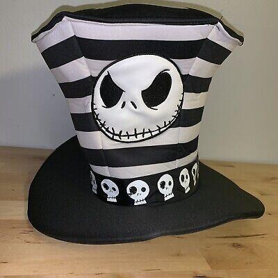 Nightmare Before Christmas Top Hat (Disney Jack Skellington Top Hat Costume Halloween Nightmare Before)
