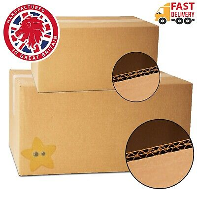 5 X-LARGE D/W CARDBOARD REMOVAL MOVING BOXES 24x18x18