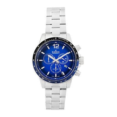 Edox Men's Chronorally S Swiss Chronograph Watch F1 Caseback   10229    ON SALE