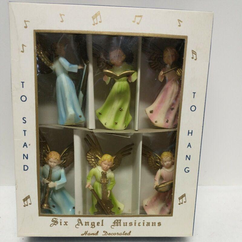 Vintage Christmas Plastic Angel Ornaments IOB to British Hong Kong