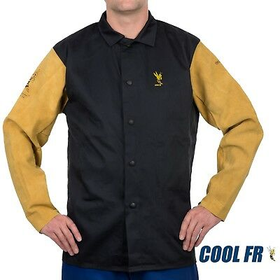 Weldas Cool Fr Weldingfire Retardantdielectric Jacket - Cotton And Leather