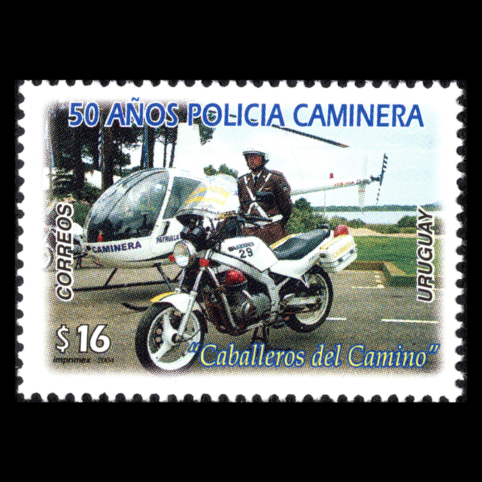 Uruguay 2004 - 50th Anniversary of the Traffic Police Military - Sc 2081 MNH
