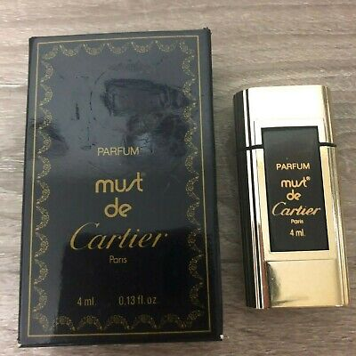 Cartier Must de Cartier Mini Pure Parfum 4ML/0.13oz New in Box De Cartier Mini