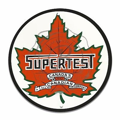 Vintage Design Sign Metal Decor Gas and Oil Sign - Canada's Supertest...