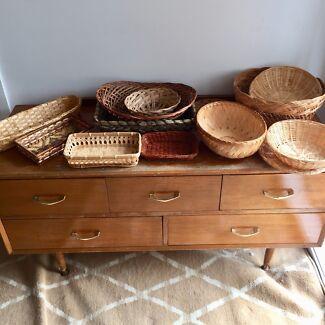 Set of wicker baskets