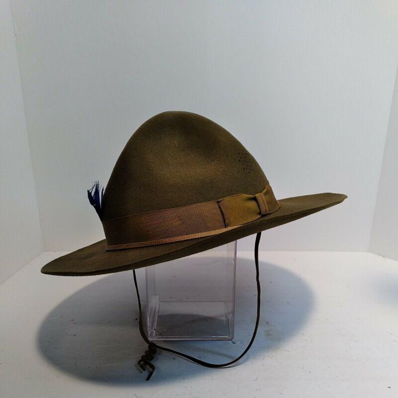 Vtg Antique Official Boy Scouts of America Scout Leader Felt Hat Sz 7 3/8