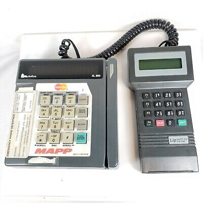 Veriphone Xl 300 Mapp Credit Card Terminal Wcable To Lip Nurit 202 Pin Pad