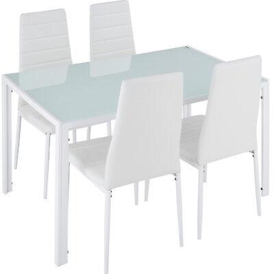 Set di 4 sedia sala da pranzo i tavolo da pranzo di mobili zona pranzo bianco