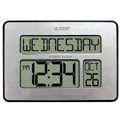 La Crosse Technology 513-1419-INT Atomic Full Calendar Clock with Extra Large