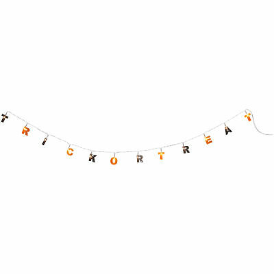 Trick Or Treat String Light LED Battery Powered Portable Party Decoration Banner Home & Garden