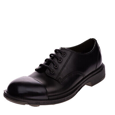 RRP€250 PEZZOL 1951 Leather Derby Shoes EU41.5 UK7.5 US8.5 Anti Static Polished