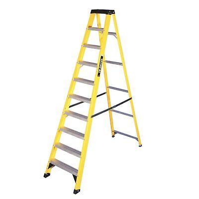 Fibreglass Swingback Step Ladders - Aluminium Treads - Max Load 150kg -