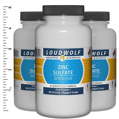 Zinc Sulfate 1.5 Lb Total 3 Bottles Reagent Grade Fine Powder Usa Seller